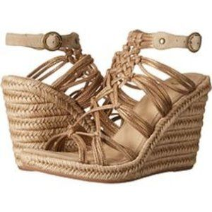 Johnston and Murphy Mindy Woven Wedge Sandal